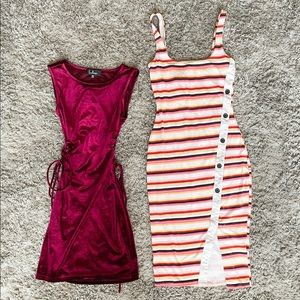 XS Lulus and Express bodycon dresses